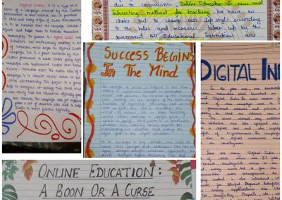 COLLAGE1 CLASSES IX-XII ON THE SPOT ESSAY WRITING ACTIVITY