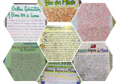 COLLAGE3 CLASSES IX-XII ON THE SPOT ESSAY WRITING ACTIVITY