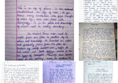 COLLAGE7 CLASSES IX-XII ON THE SPOT ESSAY WRITING ACTIVITY