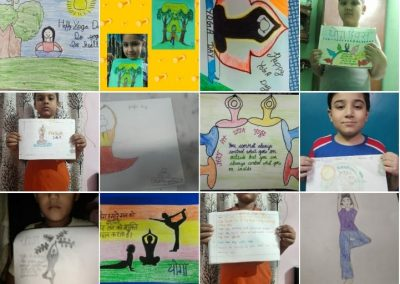 Collage1- Class 3-5 Yoga Day Poster Making Activity