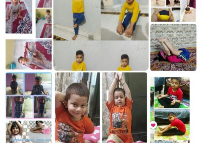 Collage1-PrePrimary Class (YogaDay)