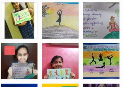 Collage2-Class 3-5 Yoga DayPoster Making Activity