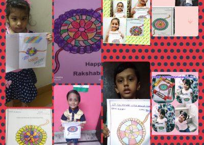 Collage-3 Raksha Bandhan Activity