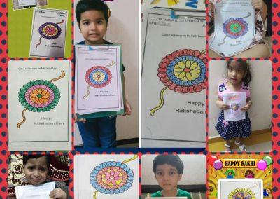 Collage-4 Raksha Bandhan Activity