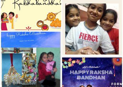 Collage-4 Rakshabandhan ctivity