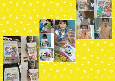 Collage-5 raksha Bandhan Activity