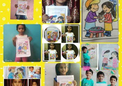 Collage-6 raksha Bandhan Activity