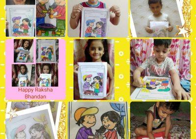 Collage-7 raksha Bandhan Activity